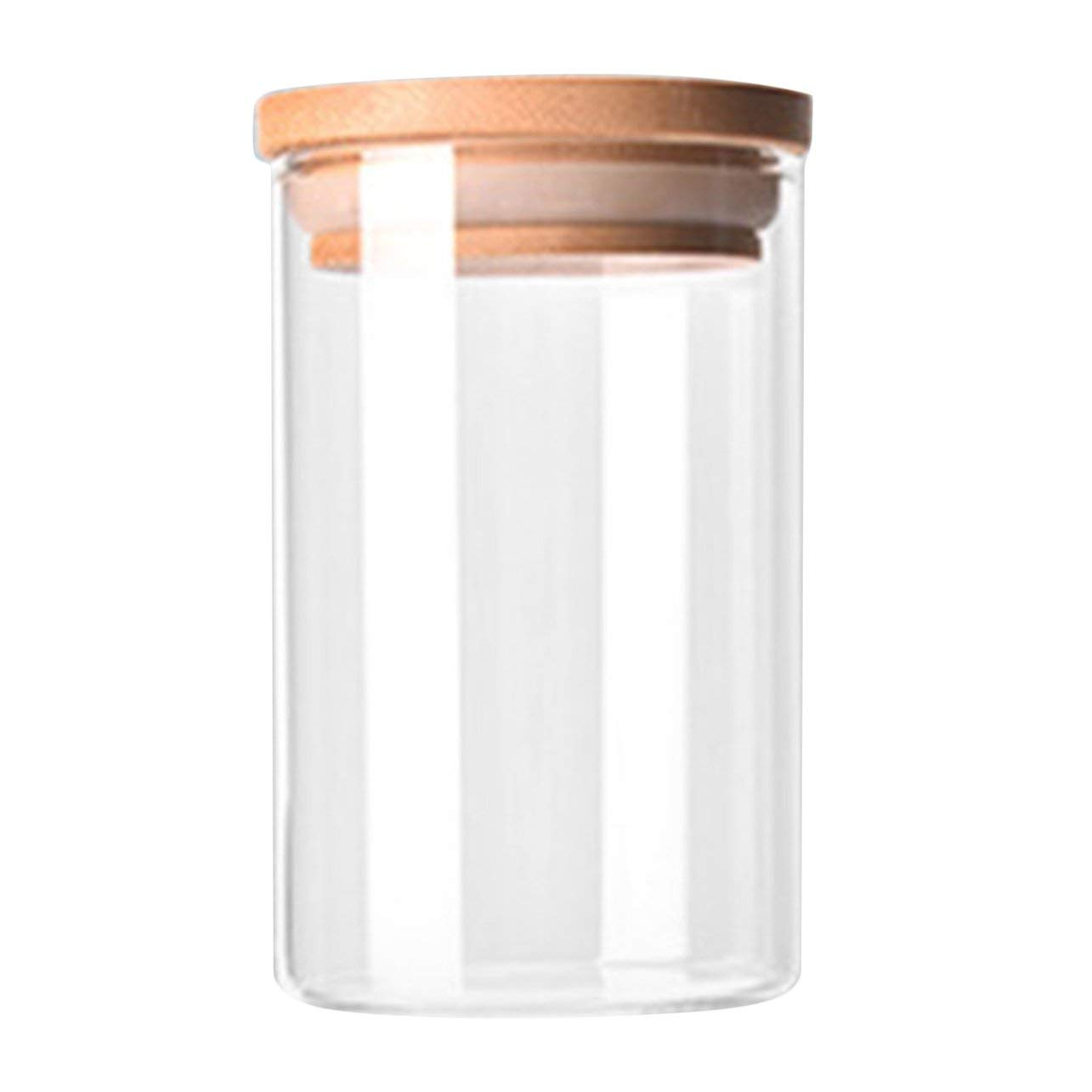 WOSOSYEYO Transparente Alto Borosilicato Vidrio Cocina Almacenaje Botella Tienda Ingrediente del alimento Caramelo Galleta Almacenaje Tarro Organizaci/ón