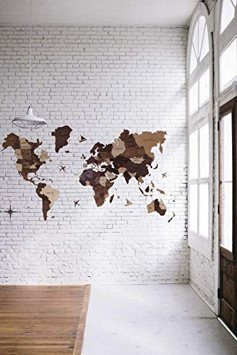 Amazon Com Enjoy The Wood 3d Wood World Map Wall Art Wall Decor