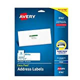 Avery Mailing Address Labels, Inkjet Printers, 350 Labels, 1-1/3 x 4, Permanent Adhesive (8162)