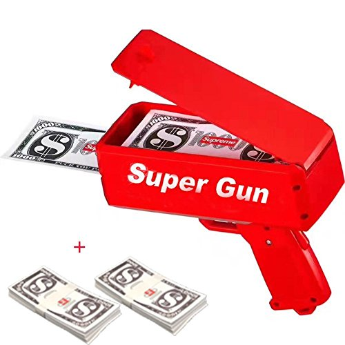 EAWE Money Gun Paper playing Money Spary Money Gun Make It Rain Money Gun Drop Red