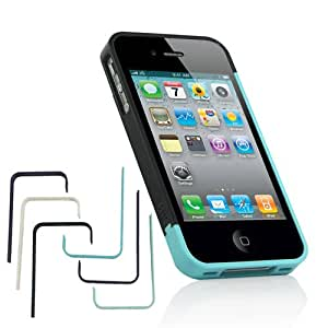 ZuGadgets 3-Pack Double Colors Plastic Bumper Cover Case for iPhone 4 4S (7554-3)