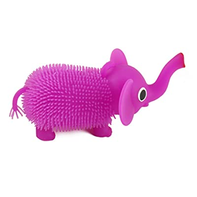 Random Color LED Dazzling Hair Puffer Squeeze Toy,Elephant Shape Squeeze Stress Venting Kids Toy: Toys & Games