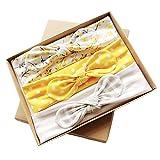 XINSHI Baby Girls Elastic Soft Hair Band Infant Bow Headbands Turban (Box(3pcs))