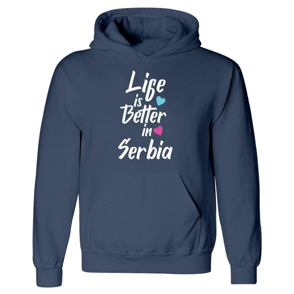 Life is Better in Serbia Pride Hoodie