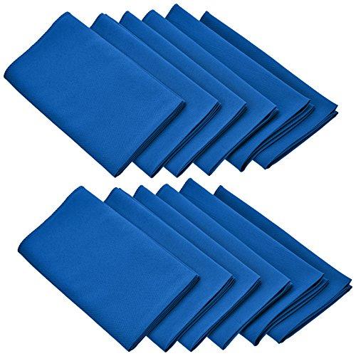 LinenTablecloth 17-Inch Polyester Napkins (1-Dozen) Royal Blue (Cobalt Blue Napkins)