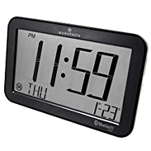 MARATHON CL800001GH Bluetooth Panoramic Clock System - Brushed Graphite - Batteries Included