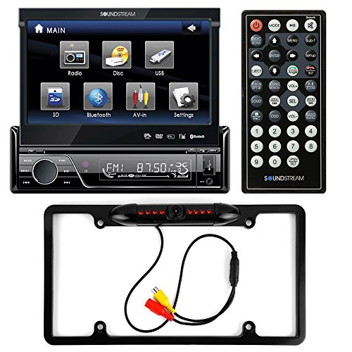 Soundstream VIR-7830B Single-DIN Bluetooth Car Stereo DVD Player w/ 7