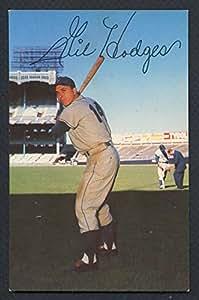 1952-55 Dormand Postcard #129 Gil Hodges Dodgers EX-MT 327536 Kit Young Cards
