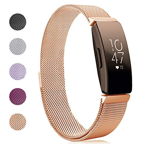 Kartice Compatible Fitbit Inspire HR Bands/Fitbit Inspire Band,Inspire Accessory Milanese Stainless Steel Mesh Men Women Replacement Strap for Fitbit Inspire & Inspire HR Tracker. ()