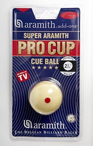 Aramith bola de billar profesional diversión formación colección con folleto de instrucciones respaldo del mundo famoso entrenador y Instructor Pro Cup TV de pelotas de billar, PRO-CUP TV White Cue Ball -