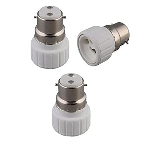 2 X Bc B22 Bayonet Cap To Gu10 2 Pin Light Bulb Fitting Lamp Adaptor Converter Plug Power Socket