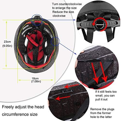 Casque de vélo, Certifié CE, Casque vélo avec lunettes magnétiques amovibles Bouclier de protection pour hommes Femmes Montagne et route Protection sécurité réglable pour adulte Ski Snowboard NR-010