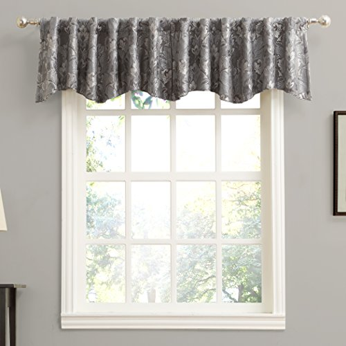 Sun Zero Mayfield Floral Pattern Blackout Back-Tab Curtain Valance, 54