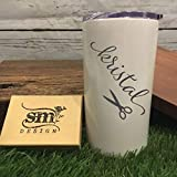 Personalized Name Hairdresser Tumbler For Girlfriend Gift Engraved Tumbler For Her Womans Cup Double Wall Vacuum Insulation Hairstylist Gift