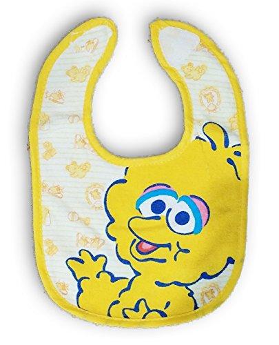 Sesame Street Big Bird Plaid Terry Bib for Baby Toddler 0+ Months