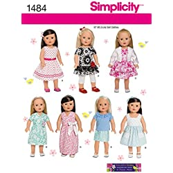 Simplicity Creative Patterns 1484 Doll Clothes, 18-Inch