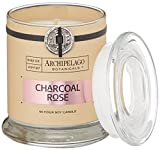 Archipelago Charcoal Rose Candle, Glass Jar, 8.62 oz.