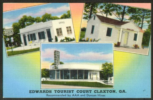 Edwards Tourst Court Claxton GA postcard 1930s