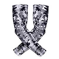 Bucwild Sports Compression Arm Sleeves 1 Pair - 2 Sleeves Youth & Adult Sizes Football Baseball Basketball Cycling Tennis