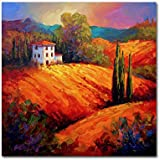 Tuscan Villa Evening by Marion Rose, 35x35-Inch Canvas Wall Art