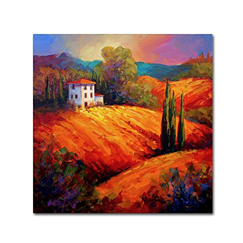 Tuscan Villa Evening by Marion Rose, 35×35-Inch Canvas Wall Art