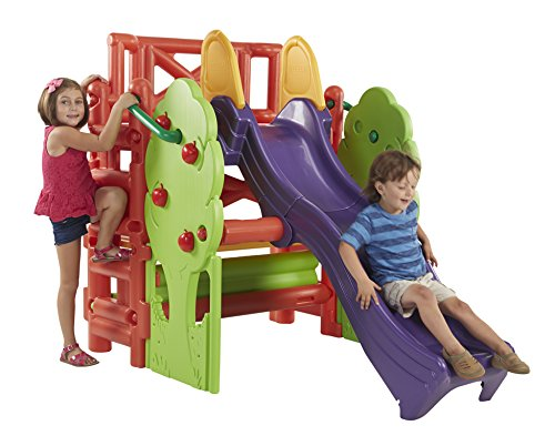 ECR4Kids Tree Top Climb and Slide Play Structure, Primary