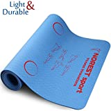 "NORESTsport Designer Yoga Mat 1/4"" Best Printed Exercise Mats with Alignment System - Durable Fitness Mat - Non Slip Pilates Mat - Workout Mat for Men and Women - Premium Strap & Bag"