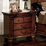 Furniture of America CM7738N Bellagrand Oak Nightstand, 32'' H