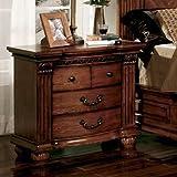 Furniture of America CM7738N Bellagrand Oak Nightstand, 32'' H