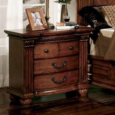 Furniture of America CM7738N Bellagrand Oak Nightstand, 32'' H by Furniture of America