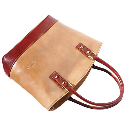 marron Leather Florence Main Bandoulière À Market Sac Détachable 204 Avec Taupe vqRqwfd