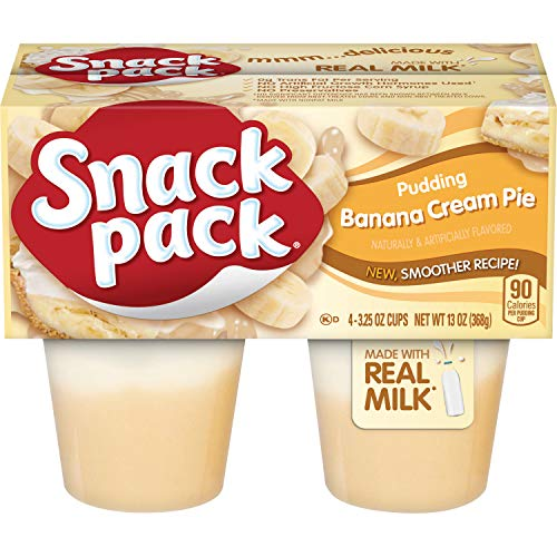 (Snack Pack Banana Cream Pie Pudding Cups, 4 Count, 12 Pack)