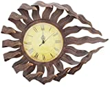 Cheap Distinctive Designs Sun Face Wall Clock Distressed Metal