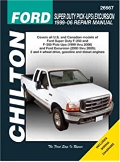 Haynes ford super duty pu and excursion 99 02 manual ford super duty pick upsexcursion 1999 through 2006 chiltons total car fandeluxe Gallery