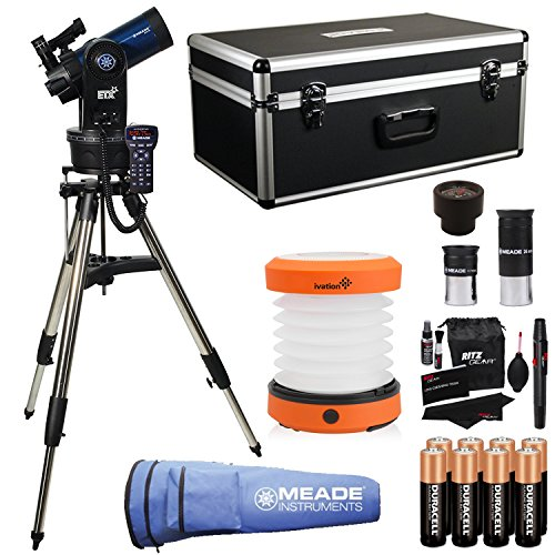 Meade Instruments ETX90 Observer Maksutov-Cassegrain Telescope with Tripod, Eyepieces, and Hand Carry Case (205004), Ritz Gear Cleaning Kit, 8 Duracell Alkaline Batteries & LED Camping Lantern by Ritz Camera