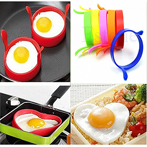 Liankee 2PCS Creative Kitchen Tool Cooking Fried Oven Poacher Pancake Egg Cooking Mould Silicone Ring
