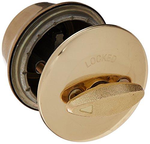 Kwikset 660 3 NOL NOS Single Cylinder Deadbolt in Polished Brass