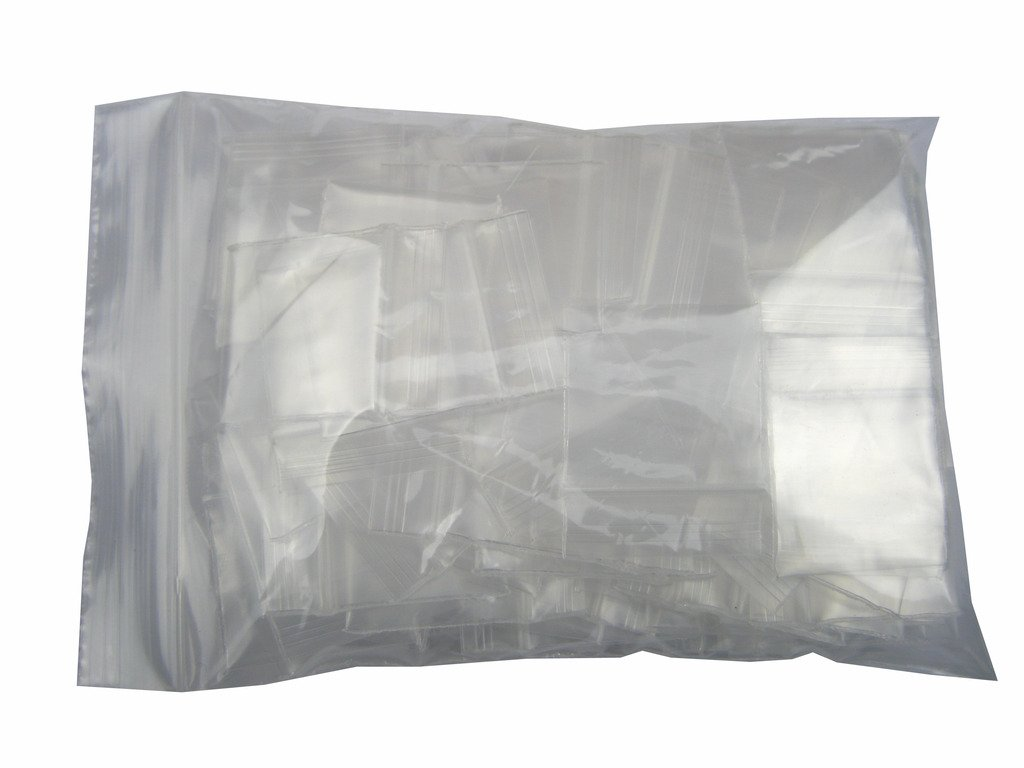Generic Clear Ziplock Bags 4 Mil Thick Plastic Reclosable Zipper Pouches Width 1 to 1.5 x Length 1.2 to 2 Small Size 1 x 1.2 50 PCS XSY