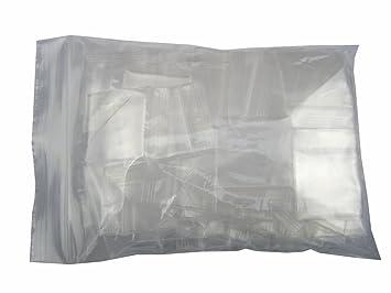 8a0b9b471ae3e XSY Mini ZIP Druckverschlussbeutel Ziplock Beutel Poly Reißverschluss  Wiederverschließbaren Tütchen 4 Mil Dicke für Schmuck Packung 25 - 40mm (W)  ...
