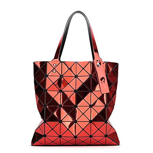 à Sac Sac Mode Bandoulière Portable Géométrique Lady Red KYOKIM Rhombus Pliant wxqHX7P7