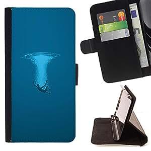 Jordan Colourful Shop - Blue Splash For Apple Iphone 4 / 4S - Leather Case Absorci???¡¯???€????€???????????&AE