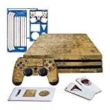 Controller Gear Uncharted 4 Map - PS4 PRO Horizontal Console & Controller Gaming Skin Pack - Licensed by PS