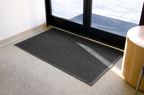 Guardian EcoGuard Indoor Wiper Floor Mat, Recycled Plastic and Rubber, 3' x 4', Charcoal