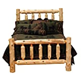 King Size Log Bed Frame Fireside Lodge Furniture 10010 Traditional Cedar Log Bed, King