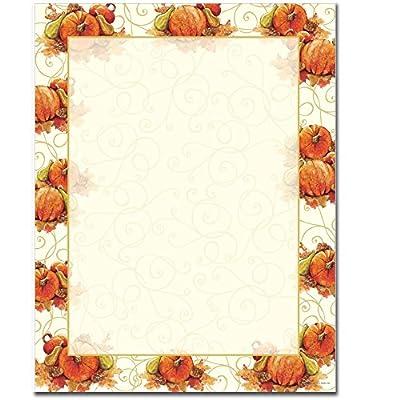 Pumpkin Swirl Letterhead & Printer Paper