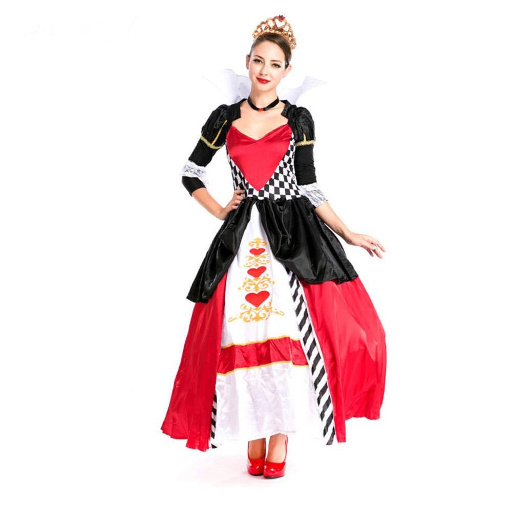 hhalibaba Poker Queen Disfraz Mujer Cosplay Halloween Vestido ...