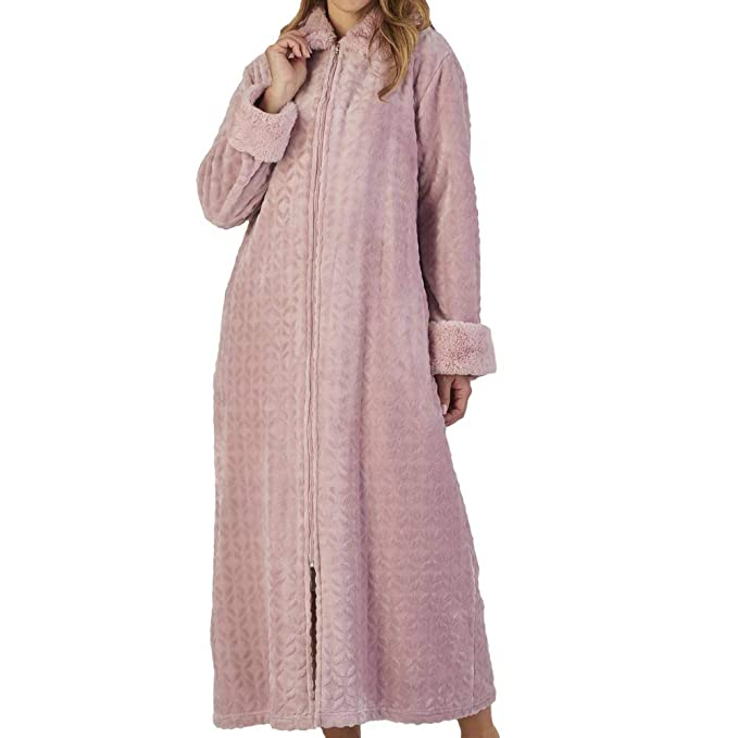 elegant shape best sneakers uk availability Slenderella Zipped Cosy Polar Dressing Gown