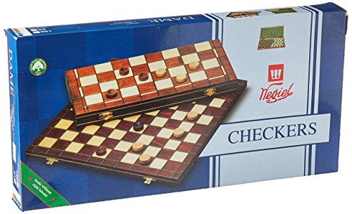 Checkers Set in Folding Wooden Case - 100 Playing Field - - Wooden Sunglasses Canada