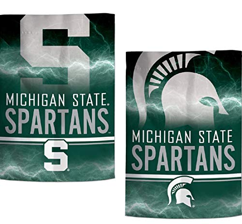 WinCraft NCAA Garden Flags 2 Sided 12. 5 x 18 Inches (Michigan State Spartans)