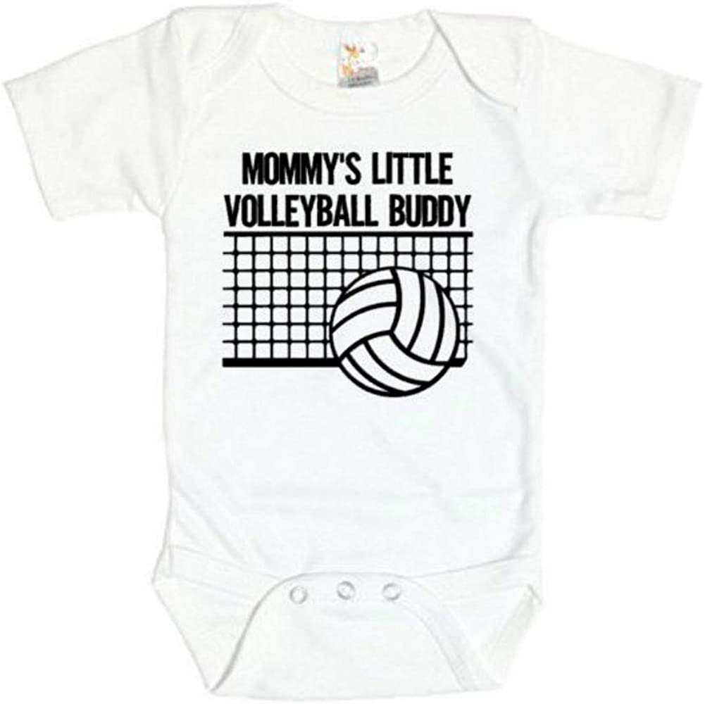 First Birthday Baby Shower Volleyball Baby One-piece Volleyball Baby Bodysuit Volleyball Player Baby Gift Mommy/'s Volleyball Buddy